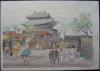 Hiyoshi Mamoru - Korean Town Scene - SOLD
